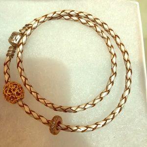 Rose gold pandora bracelet